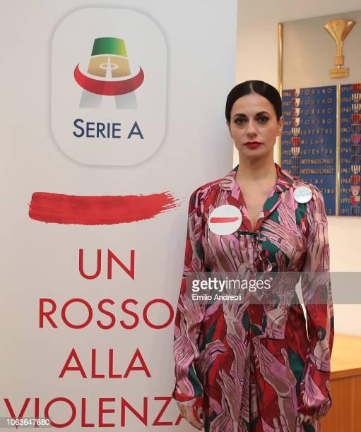 Rossella Brescia attends the Lega Serie A 'Un Rosso Alla Violenza' press conference on November 20 2018 in Milan Italy