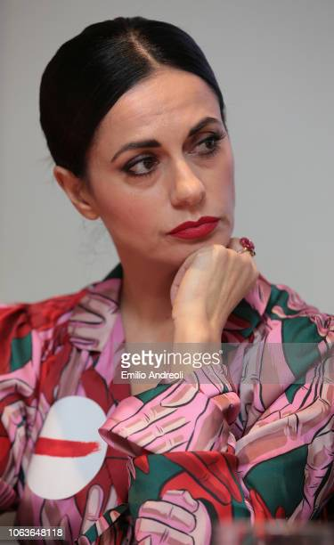 Rossella Brescia looks on during the Lega Serie A 'Un Rosso Alla Violenza' press conference on November 20 2018 in Milan Italy