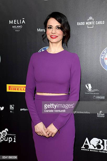 Rossella Brescia walks the red carpet of Bocelli and Zanetti Night on May 25 2016 in Rho Italy