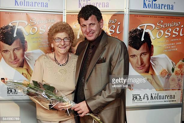 Rossi Semino Musician Singer Pop music Austria/Argentina with his mother Esther Semino in Cologne Germany Koelnarena