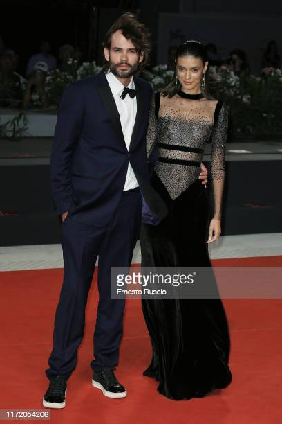 Rossif Sutherland and Laysla De Oliveira walk the red carpet ahead of the Guest of Honour screening during the 76th Venice Film Festival at Sala...