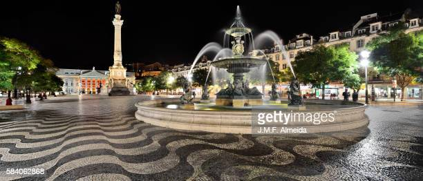 rossio panorama - ロッシオ広場 ストックフォトと画像