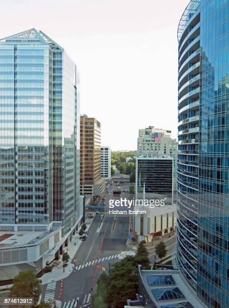 rosslyn downtown district in arlington county, virginia, usa. - arlington virginia stock pictures, royalty-free photos & images