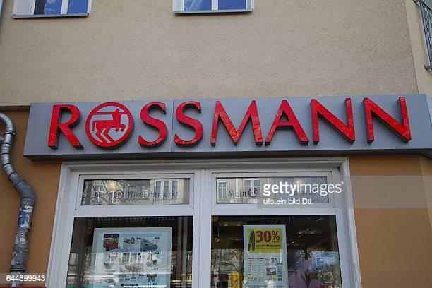 Rossmann Schriftzug bei Filiale in Berlin