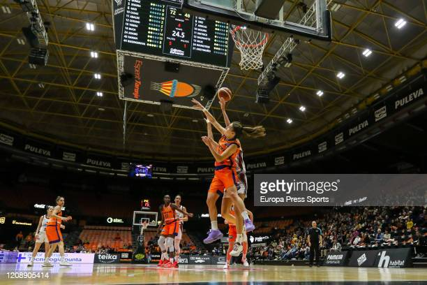 Rosso Buch of Valencia Basket in action during the EuroCup Women basketball match played between Valencia Basket and Lointek Gernika at Fuente de San...