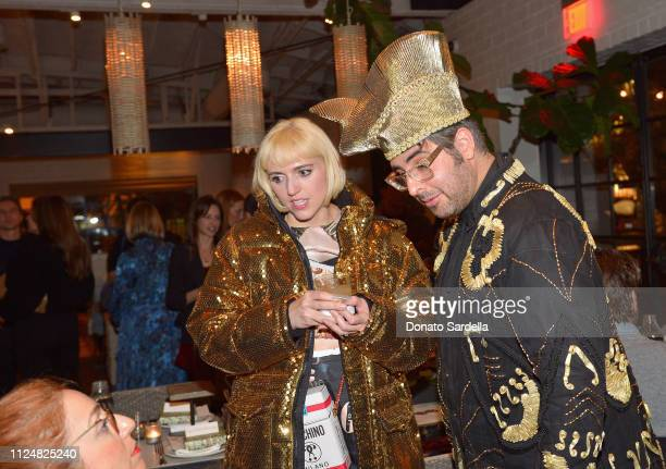 Rosson Crow and Ari Seth Cohen attend Liz Goldwyn and MATCHESFASHIONCOM celebrate the launch of Frieze LA at Gracias Madre on February 13 2019 in...