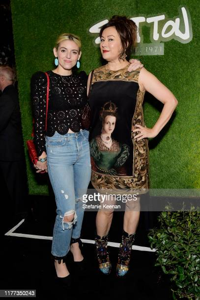 Rosson Crow and Jennifer Tilly attend SUTTON Store Launch at SUTTON on September 26 2019 in West Hollywood California