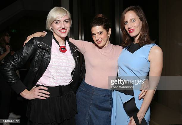 Rosson Crow Marissa Tomei and Liz Goldwyn attend the after party for the premiere of HBO Documentary Films' 'Mapplethorpe Look At The Pictures' at...