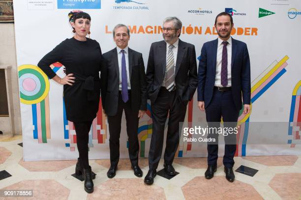 Rossy de Palma and Antonio Munoz Molina present TIFE 2018 at the French embassy on January 23 2018 in Madrid Spain