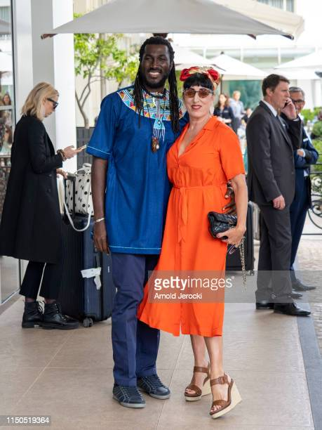 Rossy de Palma and boyfriend at Martinez hotel during the 72nd annual Cannes Film Festival on May 20, 2019 in Cannes, France.