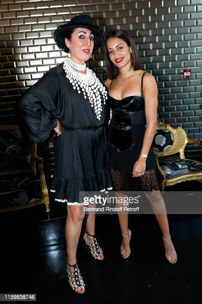 Rossy de Palma and Hiba Abouk attend the Jean Paul Gaultier Haute Couture Fall/Winter 2019 2020 show as part of Paris Fashion Week on July 03 2019 in...