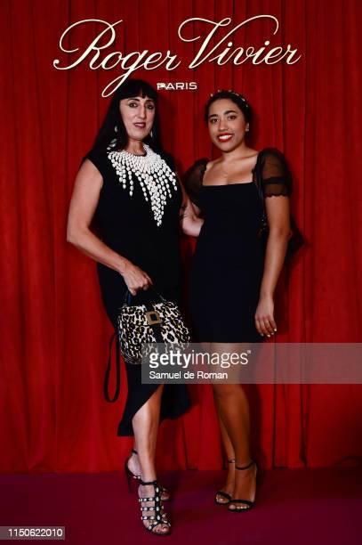Rossy de Palma and Luna Lionne attends Roger Vivier Press Dinner at Fundacion Fernando de Castro on June 18, 2019 in Madrid, Spain.