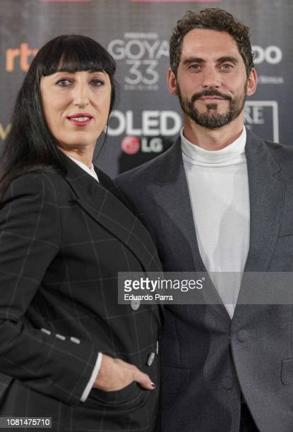 Rossy de Palma and Paco Leon attend 33rd Edition Goya Candidates Lecture at Academia de Cine on December 12 2018 in Madrid Spain