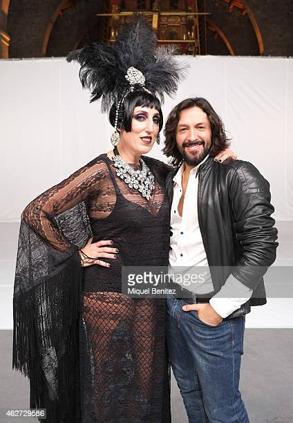 Rossy de Palma and Rafael Amargo attend the Ruven Afanador's photo shoot as part of the '080 Barcelona Fashion Week 2015 Fall/Winter' at the Museu...
