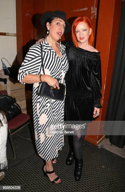 Rossy De Palma and Shirley Manson pose during day one of the Liberatum Mexico Festival 2018 at Castillo de Chapultepec on March 16 2018 in Mexico...