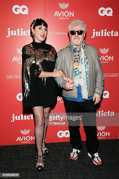 Rossy de Palma and writer/director Pedro Almodovar attend a screening of Sony Pictures Classics' Julieta hosted by The Cinema Society with Avion and...