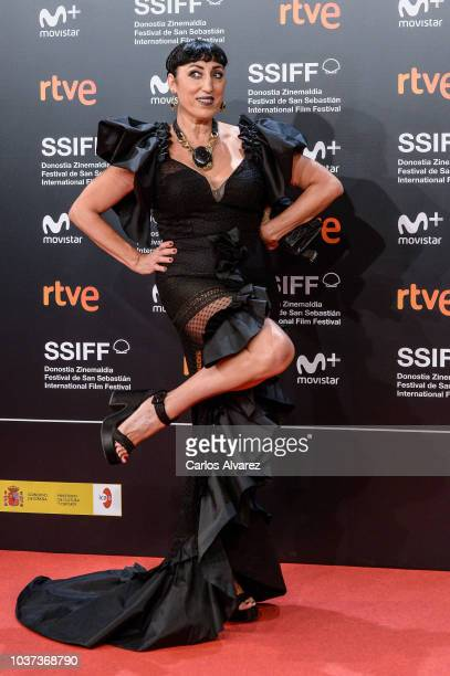 Rossy de Palma attends 'El Amor Menos Pensado' premiere during 66th San Sebastian Film Festival on September 21, 2018 in San Sebastian, Spain.