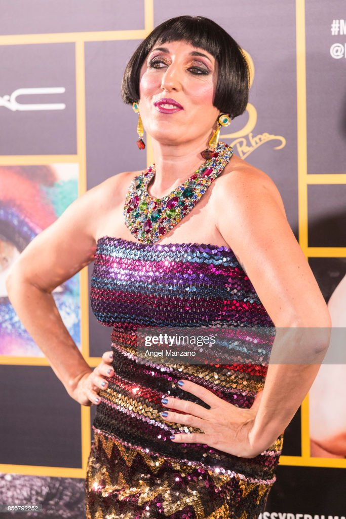 Rossy de Palma attends M-A-C collection photocall at El Principito theater on October 2, 2017 in Madrid, Spain.