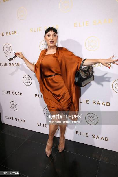 Rossy de Palma attends the Elie Saab Haute Couture Fall/Winter 20172018 show as part of Haute Couture Paris Fashion Week on July 5 2017 in Paris...