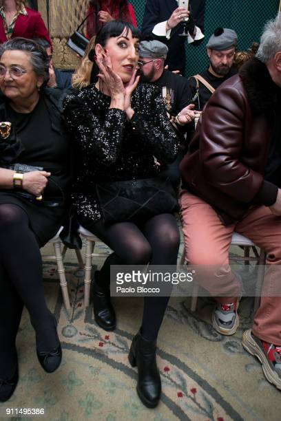 Rossy de Palma attends the front row of Palomo Spain show during Mercedes Benz Fashion Week Madrid Autumn / Winter 2018 at Ifema on January 28 2018...