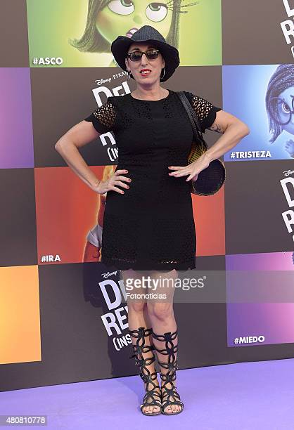 Rossy de Palma attends the 'Inside Out' Premiere at Callao Cinema on July 15 2015 in Madrid Spain