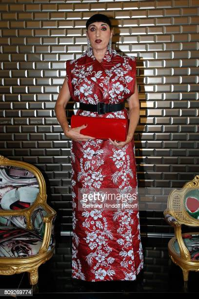 Rossy de Palma attends the Jean Paul Gaultier Haute Couture Fall/Winter 20172018 show as part of Haute Couture Paris Fashion Week on July 5 2017 in...