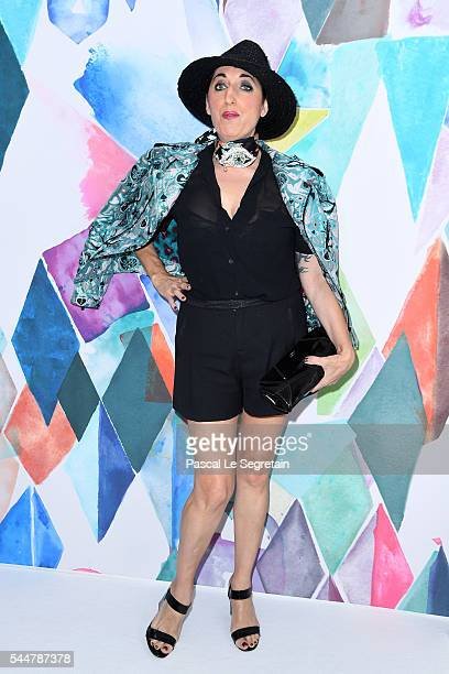 Rossy de Palma attends the Schiaparelli Haute Couture Fall/Winter 20162017 show as part of Paris Fashion Week on July 4 2016 in Paris France