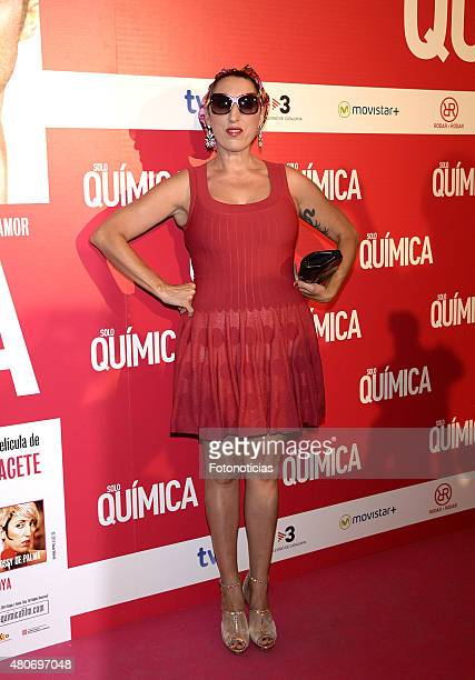 Rossy de Palma attends the 'Solo Quimica' Premiere at Palafox Cinema on July 14 2015 in Madrid Spain