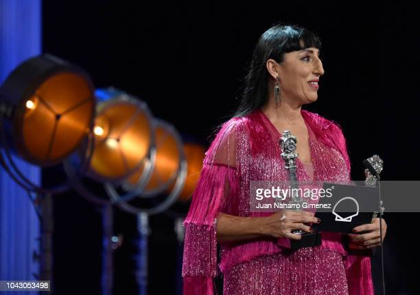 Rossy de Palma during the closing ceremony of 66th San Sebastian Film Festival at Kursaal on September 29, 2018 in San Sebastian, Spain.