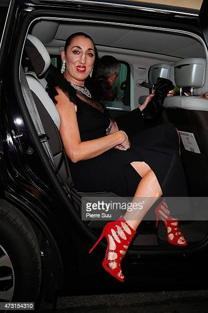 Rossy De Palma leaves the Hotel Majestic during the 68th annual Cannes Film Festival on May 13 2015 in Cannes France