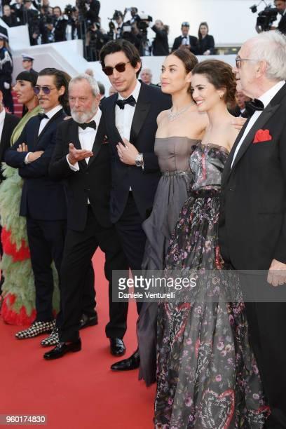 Rossy de Palma Oscar Jaenada Olga Kurylenko Adam Driver director Terry Gilliam Joana Ribeiro and Jonathan Pryce attend the Closing Ceremony screening...