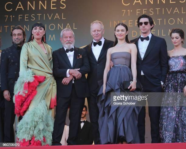 Rossy De Palma Oscar Jaenada Olga Kurylenko Adam Driver Terry Gilliam Joana Ribeiro and Jonathan Pryce attend the screening of 'The Man Who Killed...