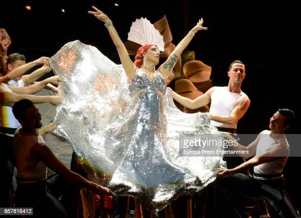 Rossy de Palma performs during the opera 'The cantor of Mexico' at the Teatro de la Zarzuela on October 4 2017 in Madrid Spain