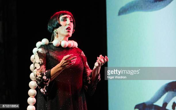 Rossy de Palma performs on stage during the Oslo World Music Festival at the Sentralen on November 4 2017 in Oslo Norway