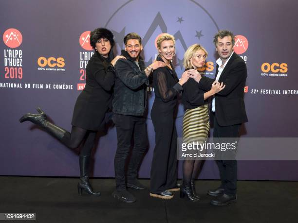 Rossy de Palma Rayane Bensetti Alexandra Lamy Anne Marivin and Eric Elmosnino attends the opening ceremony of the 22nd L'Alpe D'Huez International...