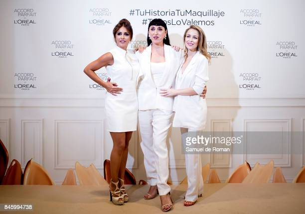Rossy de Palma Silvia Abascal and Monica Molina during L'Oreal Paris Presents 'Accord Parfit' Collection on September 12 2017 in Madrid Spain