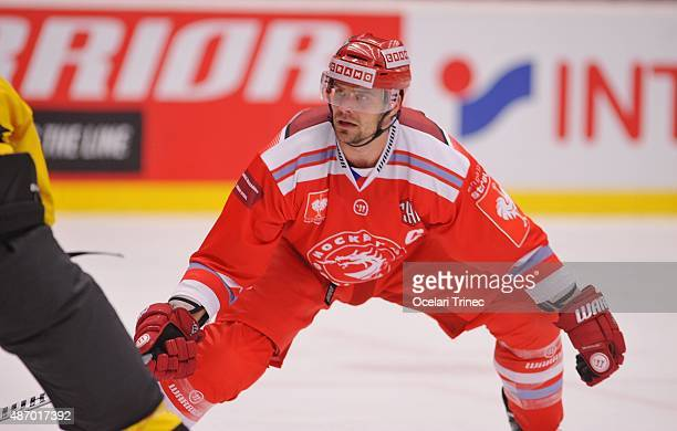 Rostislav Klesla of Ocelari Trinec skates on ice during the Champions Hockey League group stage game between Ocelari Trinec and Kalpa Kuopio at WERK...