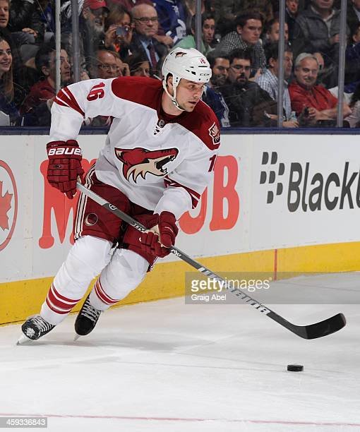 Rostislav Klesla of the Phoenix Coyotes skates during NHL game action December 19 2013 at the Air Canada Centre in Toronto Ontario Canada