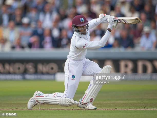 Roston Chase of West Indies during Day One of the 3rd Investec Test Match between England and West Indies at Lord's Cricket Ground on September 7...