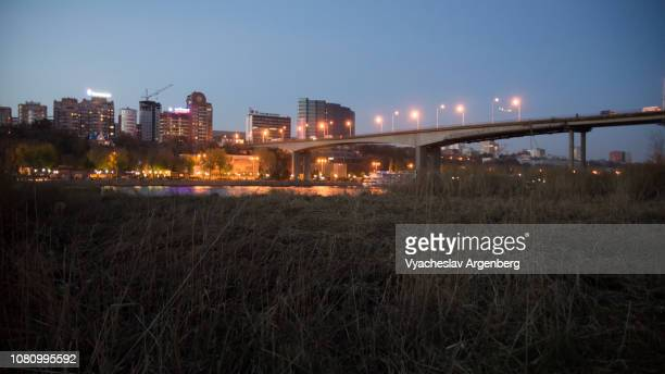 rostov-on-don late at night - argenberg stock pictures, royalty-free photos & images