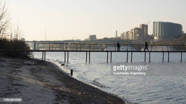 rostov-on-don, russia, left bank of don river - rostov on don stock pictures, royalty-free photos & images