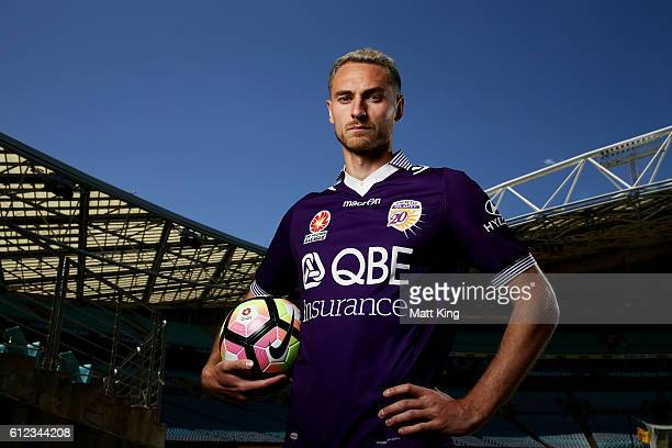 Rostyn Griffiths of Perth Glory poses during the 2016/17 ALeague Season Launch at ANZ Stadium on October 4 2016 in Sydney Australia
