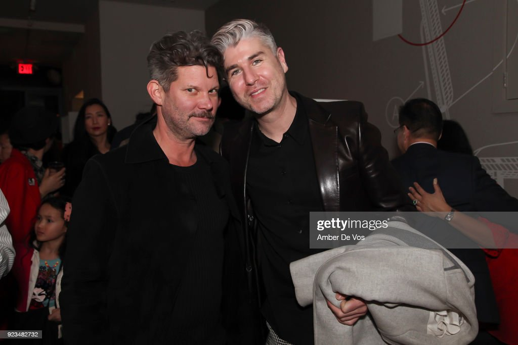 Roswell Hamrick and Johnny Pizzolato attend New York Chinese New Year Celebration at Calligaris SoHo on February 13, 2018 in New York City.