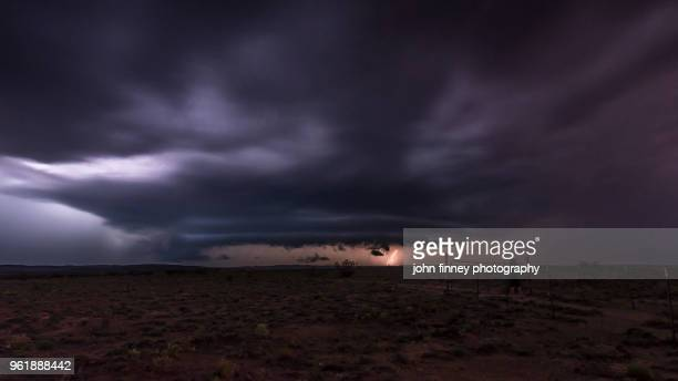roswell severe warned thunderstorm, new mexico. usa - roswell stock pictures, royalty-free photos & images