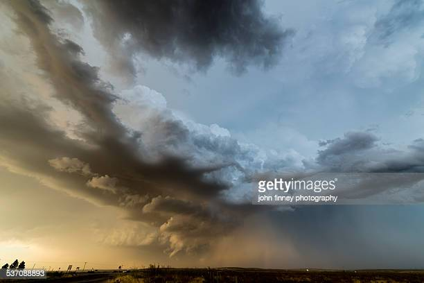 Roswell storm clouds