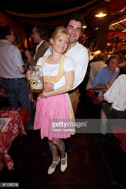 Roswitha Schreiner and husband Andreas Gotzler attend the Bavaria Film Wiesn at the Oktoberfest 2009 at Hippodrom at the Theresienwiese on September...