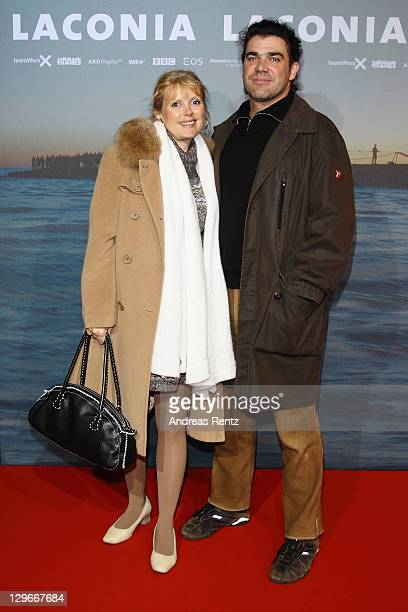 Roswitha Schreiner and husband Andreas Gotzler attend the Laconia Premiere at Astor Film Lounge on October 19 2011 in Berlin Germany