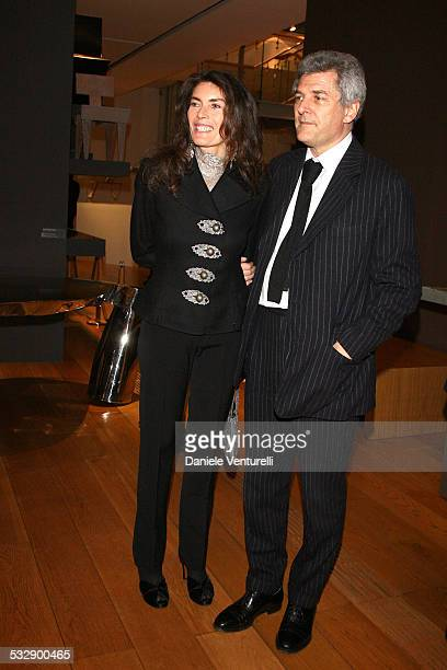 Rosy Elkann and Alain Elkann attend the Adventure with Objects/Preview Gala Dinner at Pinacoteca Giovanni e Marella Agnlli on March 18 2008 in Turin...