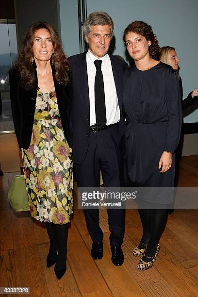 Rosy Grieco Alain Elkann and Ginevra Elkann attend the 'Why Africa' exhibition opening At the Pinacoteca Giovanni E Marella Agnelli on October 5 2007...