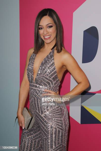 Rosy McMichael arrives at Univision's Premios Juventud 2018 at Watsco Center on July 22 2018 in Coral Gables Florida
